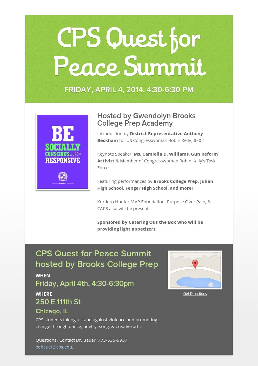 Cps quest for peace summit jpg gwendolyn brooks college prepatory