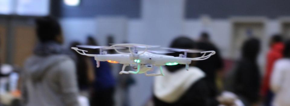 Photo of drone flying.