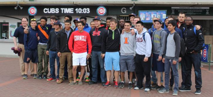 Photos of Brooks' baseball eagles at Wrigley Field.