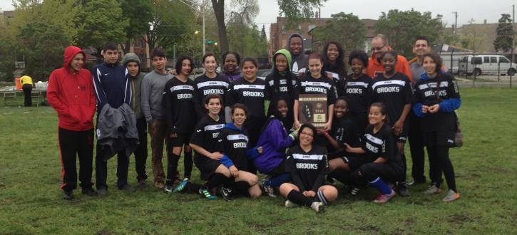 Photo of the girls soccer team.