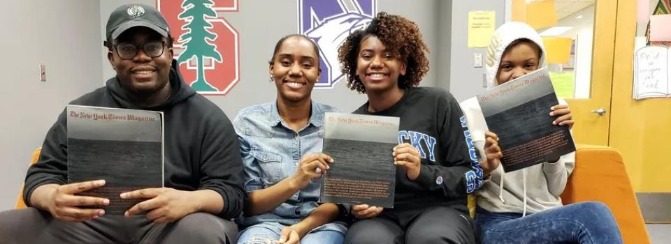 Brooks students featured in article.