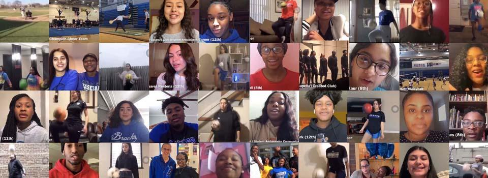 Collage of student photos from the welcome video